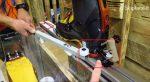 La rotazione della talloniera dello skitrab titan vario con escursione fino a 43 gradi.