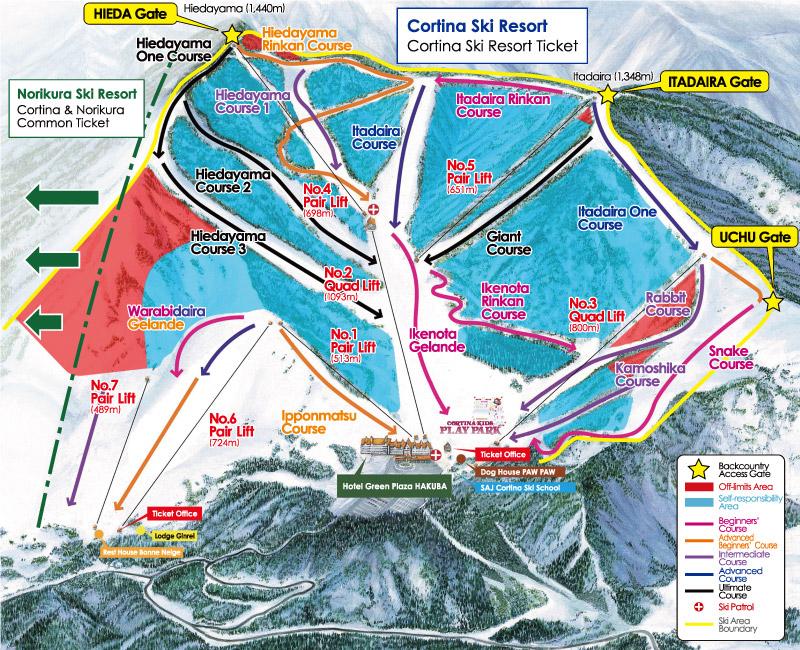 skiresortmap hakuba cortina giappone 2018